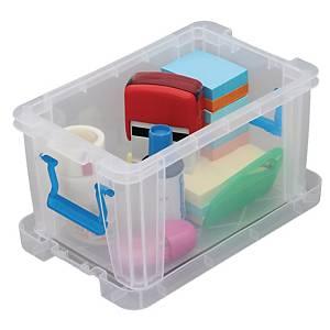 Allstore plastic opbergdoos, 1,7 l, transparant, per opbergbox