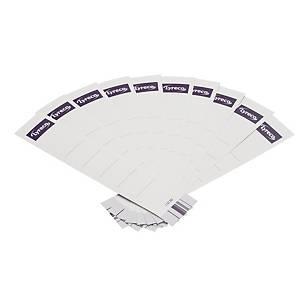 Rückenschilder Lyreco, kurz / schmal, weiß, 10 Stück