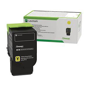 Lasertoner Lexmark 78C2XYE, 5000 sider, gul