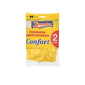 Latexové rukavice Spontex® Confort, velikost S, 2 páry