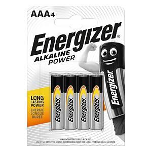 Baterie Energizer Alkaline Power, AAA/LR03, alkalické, 4 ks v balení