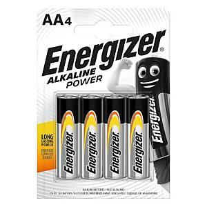 Energizer Alkaline Power Batterien, AA/LR06, Alkaline, Packung mit 4 Stück