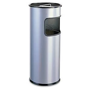 Cendrier colonne sable Durable - gris métal