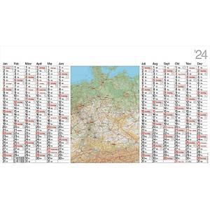 Plakatkalender 2020 Bühner LK12, 12 Monate / 1 Seite, 139 x 79cm, inkl. Pieker