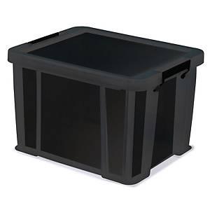 Allstore plastic opberdoos, 36 l, zwart, per opbergbox