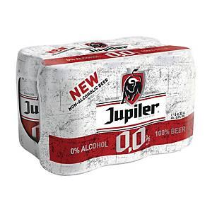 Jupiler alcoholvrij bier, pak van 6 blikken van 33 cl