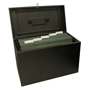Cathedral Foolscap Metal File Box Black