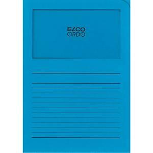Chemise coin Elco 420502 Ordo Classico à fenêtre, A4, papier, bleue, 100x