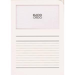 Elco 420514 Ordo pochettes coins avec fenêtre blanches - boîte de 100
