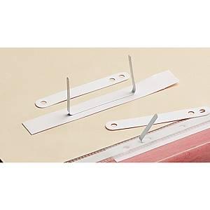 Accessoires archivage lamelles autocollantes blanches - boîte de 100