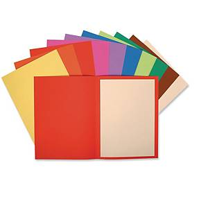 Exacompta FLASH Recycled A4 Square Cut Folders 220gsm, Assorted Colours Pack 100