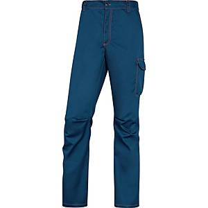 Pantaloni Deltaplus Panostretch blu/arancione tg XS