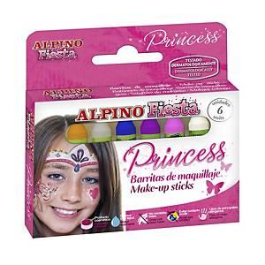 Princesse maquillage Alpino - paquet de 6