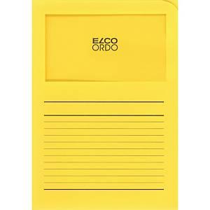 Chemise coin Elco 420505 Ordo Classico à fenêtre, A4, papier, jaune, 100x