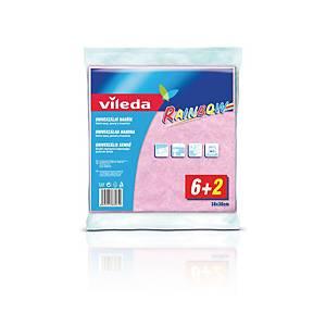Utěrka Vileda univerzálna, mix barev, 38 x 38 cm, 8 kusů