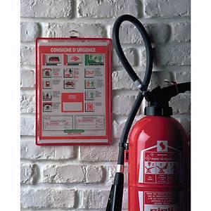 Tarifold 154503 ophanghoezen, A4, PVC, rood, pak van 5