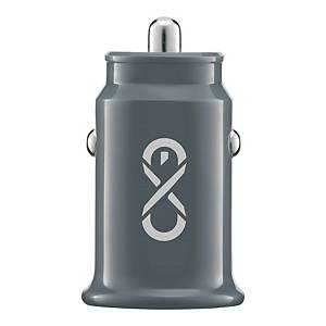 EXC SHINE CAR CHARGER 2XUSB 3.1A GRY