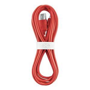 Uniwersalny kabel micro USB eXc WHIPPY, 2m, czerwony
