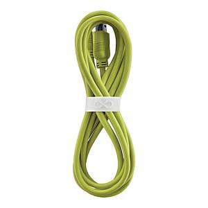 Uniwersalny kabel micro USB eXc WHIPPY, 2m, limonkowy