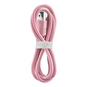 EXC WHIPPY CABLE USB C 0,9M L/PNK