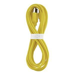 Uniwersalny kabel USB2.0 do USB-C eXc WHIPPY, 2m, żółty