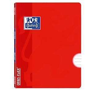 Libreta grapada OXFORD Openflex tapa plástico A4 48 hojas horizontal - rojo