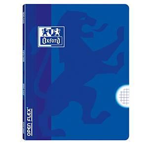 Libreta grapada OXFORD Openflex tapa plástico A4 48 hojas 4x4 - azul