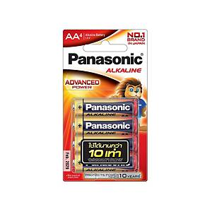 PANASONIC LR6T/4B AA ALKALINE BATTERY PACK OF 4