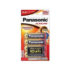 PANASONIC Lr6T/4B AA Alkaline Battery Pack Of 4