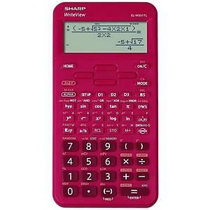 Vědecká kalkulačka Sharp ELW531TL, 96 × 32 bodový LCD displej, červená