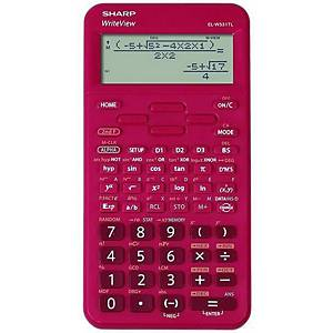 SHARP ELW531TL scientific calculator, red