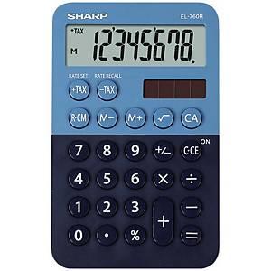 Sharp EL760R zsebszámológép, 8 számjegyű kijelző, kék