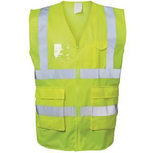 Warnschutzweste Safestyle 23510, Reißverschluss, Größe 3XL, gelb