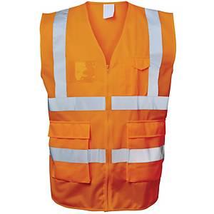 Warnschutzweste Safestyle 23511, Reißverschluss, Größe XL, orange