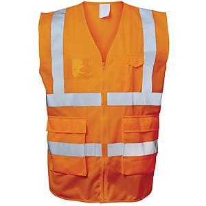 Warnschutzweste Safestyle 23511, Reißverschluss, Größe 4XL, orange