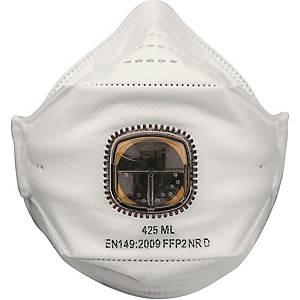 Atemschutzmaske JSP SpringFit 425ML, Typ: FFP2, mit Ventil, 10 Stück