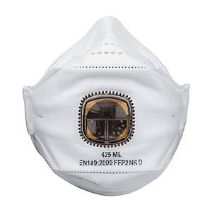 Masque pliable jetable JSP Springfit FFP2 - avec soupape - par 20