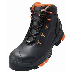 UVEX 2 6503.2 SAFETY BOOTS 40 BLACK/ORGE