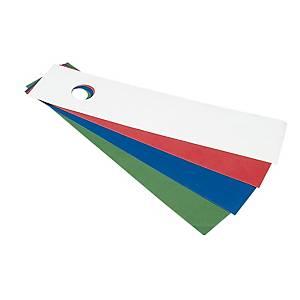 Dorsali Favorit in carta adesiva con foro per registratori verde - conf. 25