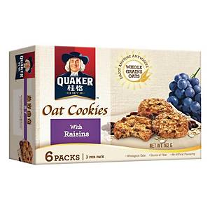 Quaker Oat Cookies with Raisins 27g - Box of 6