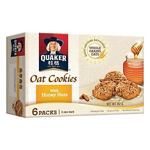 Quaker Oat Cookies with Honey Nuts 27g - Box of 6