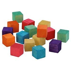 Pack de 72 cubis de madera Innspiro- 12 x 12 x 12 mm