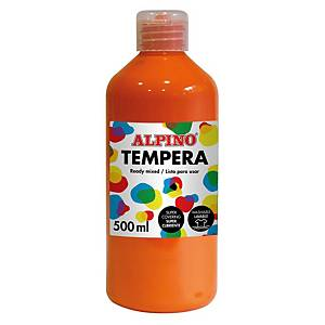 Tempera líquida 500ml ALPINO naranja