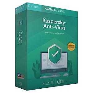 Licence anti virus 2020 Kaspersky - 3 postes - 1 an