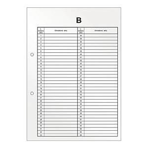 Przekładka B do akt osobowych BIURFOL, 10 sztuk