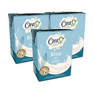 OraSi Unsweetened Rice Drink 200ml  - Pack of 3pcs