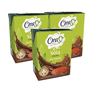 OraSi Chocolate Soy Drink 200ml - Pack of 3pcs