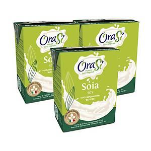 OraSi Low Sugar Soy Drink 200ml - Pack of 3pcs
