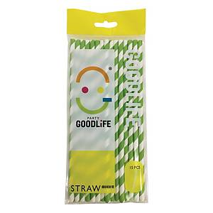 Goodlife Paper Straw ( Pack of 15pcs)