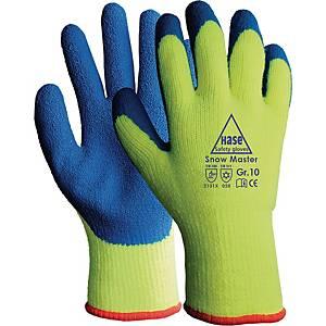 Kälteschutzhandschuhe Hase 508630, Snow Master, Größe 9, leuchtge/blau, 1 Paar